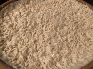 The Maasa dough after sitting